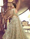photo of Embroidery Designs On Net Fabric Cream Color Function Wear Anarkali Salwar Suit