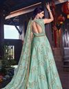 photo of Art Silk Fabric Designer Embroidered Anarkali Salwar Kameez In Light Cyan