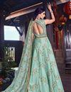 photo of Art Silk Fabric Designer Embroidered Anarkali Salwar Kameez In Light Cyan