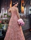 photo of Pink Party Wear Anarkali Salwar Suit In Net Fabric With Embroidery Work