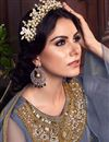 photo of Occasion Wear Net Fabric Embroidered Palazzo Salwar Kameez In Grey