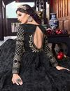 photo of Black Fancy Fabric Sangeet Wear Anarkali Suit With Embroidery Work