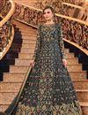 image of Net Fabric Embroidered Grey Color Party Wear Anarkali Salwar Kameez