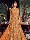 image of Net Fabric Long Floor Length Designer Embellished Anarkali Suit