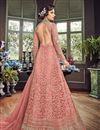photo of Wedding Function Wear Peach Embroidered Designer Long Anarkali