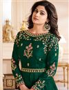 photo of Shamita Shetty Party Wear Embroidered Anarkali Suit In Art Silk Fabric