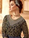 photo of Mesmeric Velvet Fabric Embroiderd Multi Color Designer Anarkali Salwar Suit