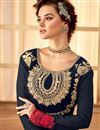 photo of Magnetic Navy Blue Color Georgette Fabric Part Wear Anarkali Salwar Kameez