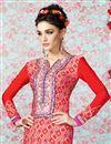 photo of Red Straight Cut Crepe Salwar Kameez-3202