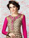 photo of Beige Party Wear Crepe Salwar Kameez-3203