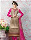 image of Beige Party Wear Crepe Salwar Kameez-3203
