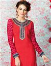 photo of Red Party Wear Crepe Salwar Kameez-3206