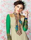 photo of Cream Long Length Crepe Salwar Kameez-3207