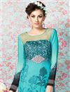 photo of Sky Blue Straight Cut Crepe Salwar Kameez-3208