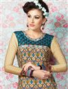 photo of Beige Party Wear Crepe Salwar Kameez-3209