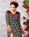 photo of Black Long Length Crepe Salwar Kameez-3210