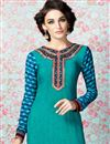 photo of Sky Blue Party Wear Crepe Salwar Kameez-3212