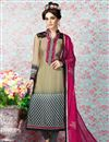 image of Beige Long Length Crepe Salwar Kameez-3213