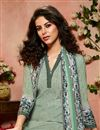 photo of Crepe Fabric Festive Wear Green Printed Palazzo Suit