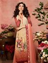 image of Peach Printed Festive Wear Palazzo Dress In Crepe Fabric