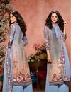 image of Crepe Fabric Printed Festive Wear Palazzo Dress In Sky Blue
