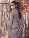 photo of Crepe Fabric Casual Style Fancy Printed Palazzo Dress In Lavender Color
