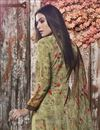 photo of Fancy Crepe Fabric Casual Style Sea Green Printed Palazzo Suit