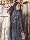 photo of Blue Casual Style Fancy Printed Palazzo Dress In Crepe Fabric