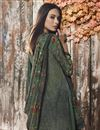 photo of Fancy Dark Green Casual Style Printed Crepe Fabric Palazzo Suit