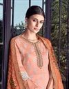 photo of Classy Art Silk Fabric Festive Wear Palazzo Salwar Kameez In Embroidered Peach