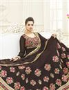 photo of Fancy Party Wear Brown Color Georgette Designer Long Anarkali Salwar Suit