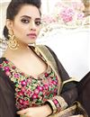 picture of Fancy Party Wear Brown Color Georgette Designer Long Anarkali Salwar Suit