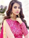 picture of Party Wear Designer Pink Color Georgette Long Anarkali Dress