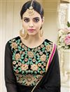 picture of Designer Fancy Black Color Georgette Party Wear Anarkali Dress