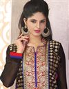 photo of Festive Wear Black Color Straight Cut Georgette Salwar Kameez