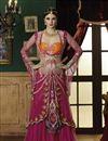 image of Pink Indo-Western Bridal Lehenga Choli-9001