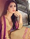 photo of Embroidery Work On Georgette Designer Straight Cut Salwar Kameez In Chikoo Color