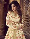 photo of Shamita Shetty Function Wear Designer Sharara Top Lehenga In Beige Art Silk