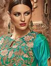 photo of Turquoise Color Party Wear Silk Anarkali Salwar Suit