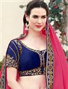 photo of Georgette Party Wear Designer Pink Color Saree With Unstitched Blouse