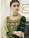 photo of Dark Green Fancy Embroidered Festive Wear Sharara Top Lehenga In Georgette