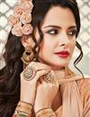 photo of Designer Straight Cut Georgette Salwar Suit in Orange Color