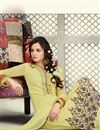 photo of Designer Party Wear Georgette Salwar Kameez in Yellow Color
