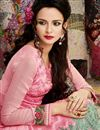 photo of Pink Color Straight Cut Georgette Salwar Kameez with Embroidery