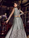 photo of Grey Embroidered Net Fabric Party Wear Anarkali Salwar Kameez