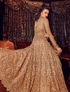 photo of Embroidered Net Fabric Chikoo Function Wear Anarkali Suit