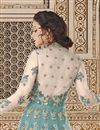photo of Function Wear Embellished Net Light Cyan Anarkali Suit
