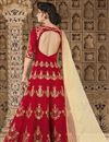 photo of Designer Fancy Long Anarkali Salwar Suit In Art Silk Red