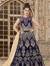 image of Velvet Long Floor Length Anarkali Dress