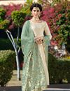image of Jacquard Fabric Occasion Wear Straight Cut Suit With Embroidery Work
